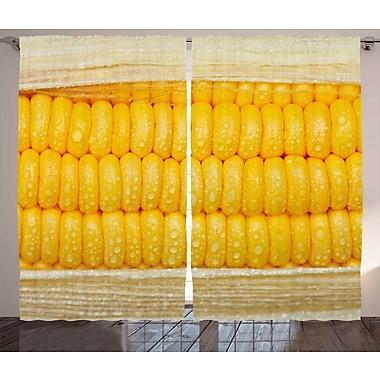 Latitude Run Jovita Graphic Print & Text Semi-Sheer Rod Pocket Curtain Panels (Set of 2)
