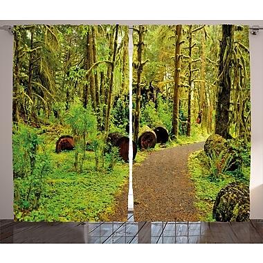 Red Barrel Studio Vandeventer Graphic Print and Text Semi-Sheer Rod Pocket Curtain Panels (Set of 2)