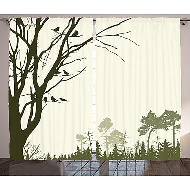 Loon Peak Cadel Decor Graphic Print and Text Semi-Sheer Rod Pocket Curtain Panel (Set of 2)