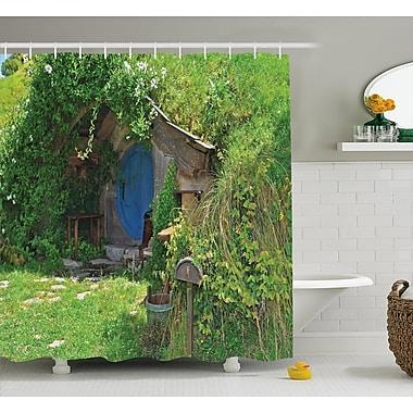 Ambesonne Hobbits Fantasy Hobbit Land House Shower Curtain; 69'' W x 75'' H