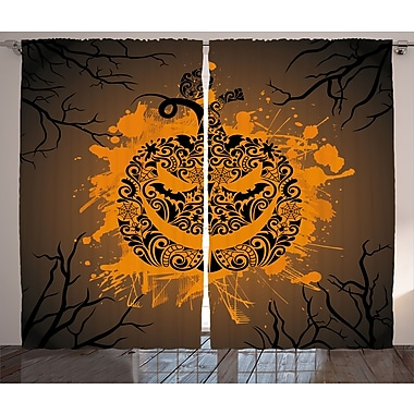 The Holiday Aisle Chakra Graphic Print & Text Semi-Sheer Rod Pocket Curtain Panels (Set of 2)