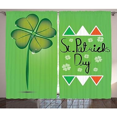St. Patrick's Day Graphic Print & Text Semi-Sheer Rod Pocket Curtain Panels (Set of 2)