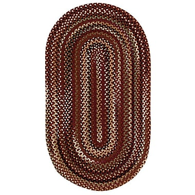 Loon Peak Fort Lupton Cinnamon Area Rug; Concentric Square 8'6''