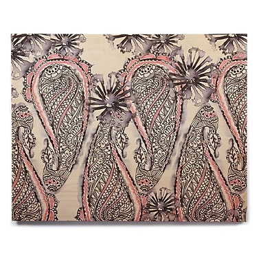 East Urban Home 'Inky Paisley Bloom' Graphic Art Print on Wood; 12'' H x 12'' W x 1'' D