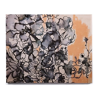 East Urban Home 'Inky Bouquet' Graphic Art Print on Wood; 11'' H x 14'' W x 1'' D