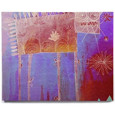 East Urban Home 'Scary Song About Love' Graphic Art Print on Wood; 8'' H x 10'' W x 1'' D