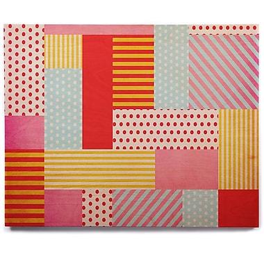 East Urban Home 'Geometric Pop' Graphic Art Print on Wood; 8'' H x 10'' W x 1'' D