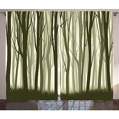Loon Peak Calina Decor Graphic Print and Text Semi-Sheer Rod Pocket Curtain Panel (Set of 2)