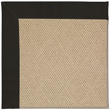 Longshore Tides Lisle Machine Tufted Ebony/Brown Indoor/Outdoor Area Rug; Square 6'