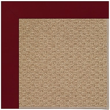 Longshore Tides Lisle Machine Tufted Red/Brown Indoor/Outdoor Area Rug; 10' x 14'