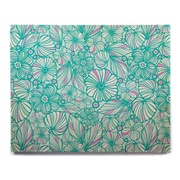 East Urban Home 'My Turquoise Flowers' Graphic Art Print on Wood; 11'' H x 14'' W x 1'' D