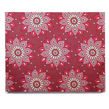 East Urban Home 'Raspberry Flower Burst' Graphic Art Print on Wood; 11'' H x 14'' W x 1'' D