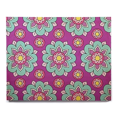 East Urban Home 'Bright Blossoms' Graphic Art Print on Wood; 8'' H x 10'' W x 1'' D