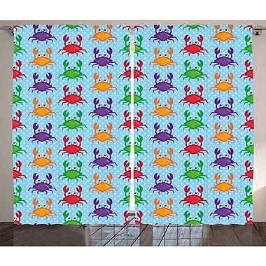 Highland Dunes Bridgette Graphic Print & Text Semi-Sheer Rod Pocket Curtain Panels (Set of 2)