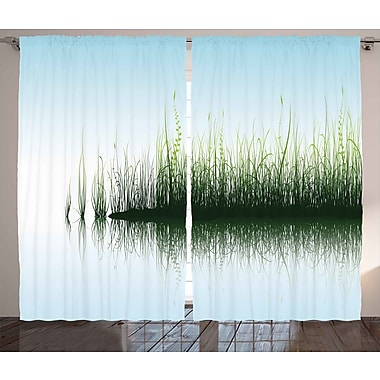 Loon Peak Cale Nature/Floral Semi-Sheer Rod Pocket Curtain Panel (Set of 2); 90'' W x 108'' L