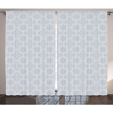Ivy Bronx Blake Celtic Graphic Print & Text Semi-Sheer Rod Pocket Curtain Panels (Set of 2)