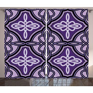 World Menagerie Zora Celtic Graphic Print & Text Semi-Sheer Rod Pocket Curtain Panels (Set of 2)
