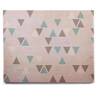 East Urban Home 'Triangle Love II' Graphic Art Print on Wood; 11'' H x 14'' W x 1'' D