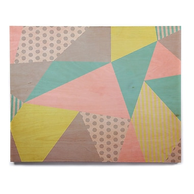 East Urban Home 'Geometric Pastel' Graphic Art Print on Wood; 11'' H x 14'' W x 1'' D