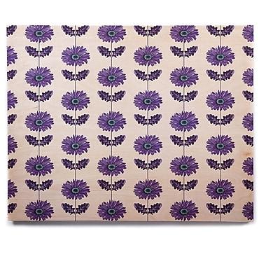 East Urban Home 'Purple Gerbera' Graphic Art Print on Wood; 11'' H x 14'' W x 1'' D
