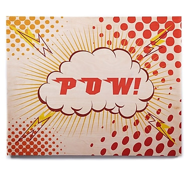 East Urban Home 'POW!' Graphic Art Print on Wood; 12'' H x 12'' W x 1'' D
