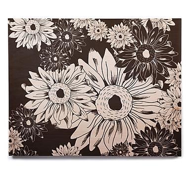 East Urban Home 'Midnight Florals' Graphic Art Print on Wood; 11'' H x 14'' W x 1'' D