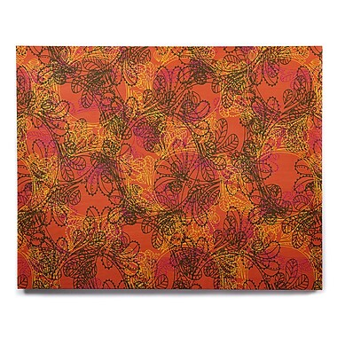 East Urban Home 'Jaipur Orange' Graphic Art Print on Wood; 20'' H x 24'' W x 1'' D