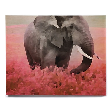 East Urban Home 'Ele-Phant' Graphic Art Print on Wood; 12'' H x 12'' W x 1'' D