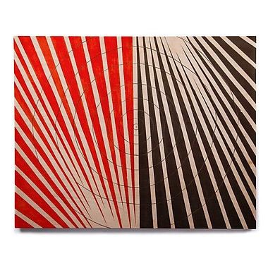 East Urban Home 'Optical Illusions' Graphic Art Print on Wood; 11'' H x 14'' W x 1'' D
