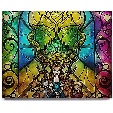 KESS InHouse 'Wizard of Oz' Graphic Art Print on Wood; 11'' H x 14'' W x 1'' D