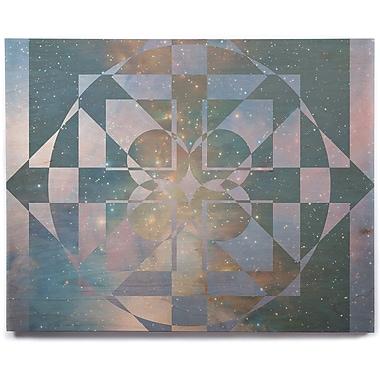 East Urban Home 'Galactic Hope' Graphic Art Print on Wood; 12'' H x 12'' W x 1'' D