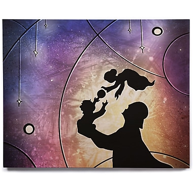 East Urban Home 'Father's Day' Graphic Art Print on Wood; 8'' H x 10'' W x 1'' D