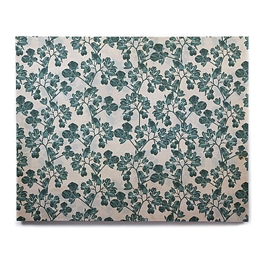 East Urban Home 'Green Flowers' Graphic Art Print on Wood; 20'' H x 24'' W x 1'' D