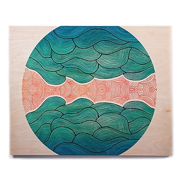 East Urban Home 'Ocean Flow' Graphic Art Print on Wood; 16'' H x 20'' W x 1'' D