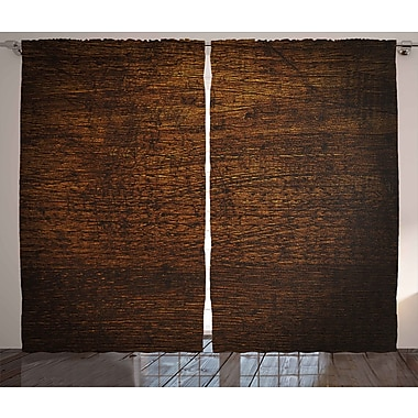 Union Rustic Hopkins Graphic Print and Text Semi-Sheer Rod Pocket Curtain Panels (Set of 2)