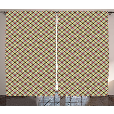 Red Barrel Studio Lakeshore Graphic Print and Text Semi-Sheer Rod Pocket Curtain Panels (Set of 2)