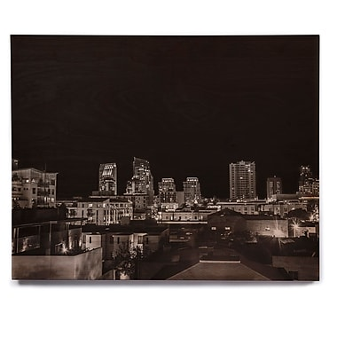 East Urban Home 'Cityscape Nights' Photographic Print on Wood; 20'' H x 24'' W x 1'' D