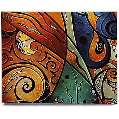 East Urban Home 'Sea Dance' Graphic Art Print on Wood; 8'' H x 10'' W x 1'' D