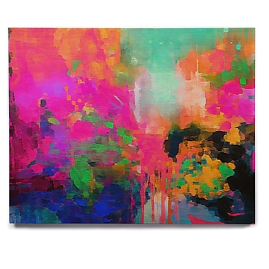 East Urban Home 'Montesilvano-Abstract' Painting Print on Wood; 8'' H x 10'' W x 1'' D