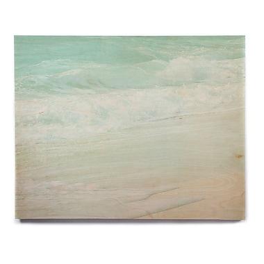 East Urban Home 'Paradise Beach Mint' Graphic Art Print on Wood; 20'' H x 24'' W x 1'' D