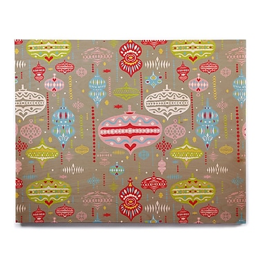 East Urban Home 'Ornate Silver' Graphic Art Print on Wood; 11'' H x 14'' W x 1'' D