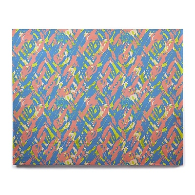 East Urban Home 'Abstract Print Blue' Graphic Art Print on Wood; 16'' H x 20'' W x 1'' D