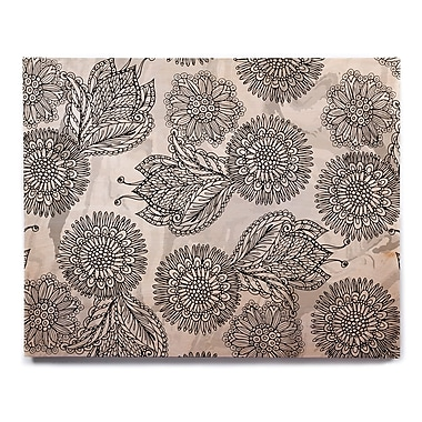 East Urban Home 'Flowers In Gray' Graphic Art Print on Wood; 20'' H x 24'' W x 1'' D