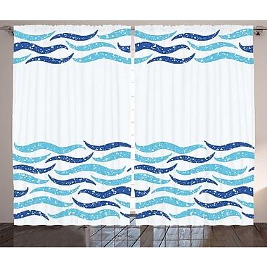 Highland Dunes Noreen Modern Graphic Print & Text Semi-Sheer Rod Pocket Curtain Panels (Set of 2)