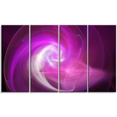 DesignArt 'Pink Fractal Abstract Illustration' Graphic Art Print Multi-Piece Image on Canvas