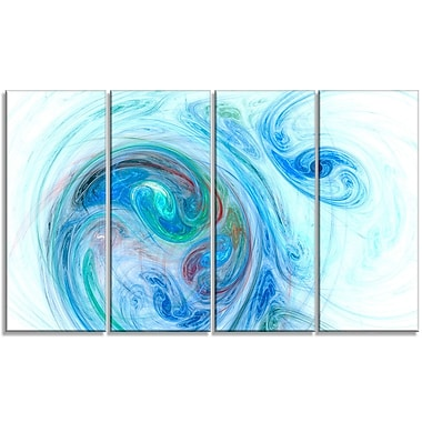 DesignArt 'Light Blue Fractal Illustration' Graphic Art Print Multi-Piece Image on Canvas