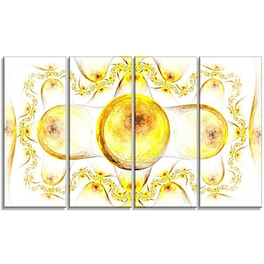 DesignArt 'Yellow Exotic on White' Graphic Art Print Multi-Piece Image on Canvas