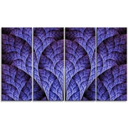 DesignArt 'Exotic Purple Biological Organism' Graphic Art Print Multi-Piece Image on Canvas