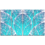 DesignArt 'Exotic Blue Biological Organism' Graphic Art Print Multi-Piece Image on Canvas