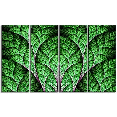 DesignArt 'Exotic Green Biological Organism' Graphic Art Print Multi-Piece Image on Canvas